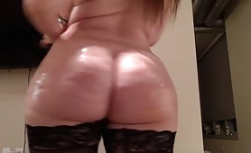 THICK PAWG undresses and twerks on a dildo