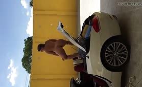 hot brazilian babe twerking on YOUR car
